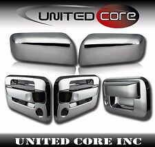 04-08 Ford F150 Chrome Mirror Cover Chrome 2 Door Handle Cover Chrome Tailgate