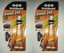 2 X Multibond-Shoe-Fix-Repair-20ml Adhesive-Glue-bond-Rubber-Leather-Canvas