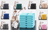 100% Combed Cotton 6 Pack Face Towel Cloth Set Towels Flannels Soft
