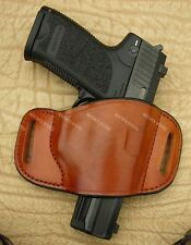 H&K VP9, Walther PPQ... Leather Belt Slide  Gun Holster Made In U.S.A. See List