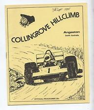 1975 Collingrove Hill Climb Program Production Touring Racing Sports Motorcycles