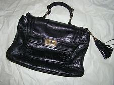 pre-owned  REBECCA MINKOFF black leather Satchel Handel Purse DESIGNER SAMPLE