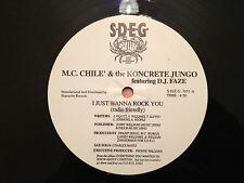 "M.C. CHILE' & the KONCRETE JUNGO - I Just Wanna Rock You - RARE RAP -12""  NMint"