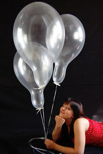 "20 x Belbal 14"" Luftballons KLAR * CRYSTAL CLEAR * (Made in EU)"