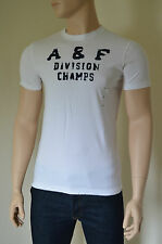 NUOVO ABERCROMBIE & FITCH Palmer Brook Bianco distrutto TEE T-SHIRT XXL RRP £ 68