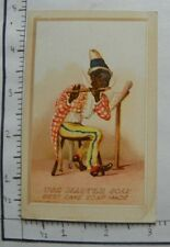 """MASTER SOAP BLACK MAN PLAYING FLUTE SHEET MUSIC """"BEST CAKE SOAP MADE"""" 1667"""