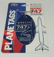Planetags Delta Airlines Boeing 747-400 N665US Blue Plane Tag Limited Edition