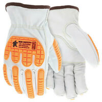 Mcr Safety 36136Kdps Leather Gloves,White,S,Pk12