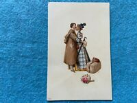 Man and Wife Kissing... Vintage Early 1900's Postcard