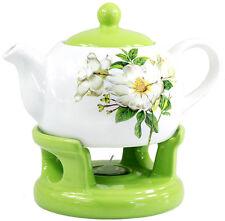 Teekanne Kanne Stövchen Set elegant außergewöhnlich schlicht modern Design grün!