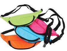 Neon Fanny Pack Light Blue Bag Bright Rave Club Festival 3 Pocket Adjustable