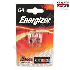 2 x Energizer G4 Eco Bombilla Halógena Cápsula 20W 280 Lumens 12V Lámpara Cálido Blanco