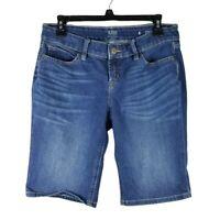 ANA A New Approach Womens Bermuda Blue Jeans Shorts Stretch Denim Size 4 32x11