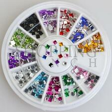 Nail Rhinestones Gems Art Diamante Fashion Glitter Jewels Multi Colour Squares
