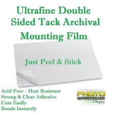"Ultrafine Double Sided Tack Archival Mounting Film 12"" x 16"" / 20 Sheets"