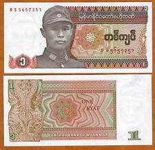 Myanmar / Burma, 1 Kyat ND (1990), First Myanmar, P-67, UNC