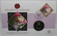 2012 | Diamond Jubilee Ascension Island FDC w/One Crown Coin | Coins | KM Coins