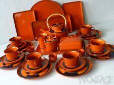 Melitta Ceracron Tee- Kaffeeservice Service Geschirr Paris Form 21 orange 70er