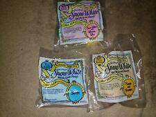 Vintage 1992 McDONALDS HAPPY MEAL TOYS -Lot Of 3- SNOW WHITE & 7 DWARFS UNOPENED