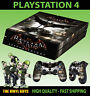 PS4 Skin Batman Arkham Knight Dark Knight Sticker + Controller Decals LAY FLAT