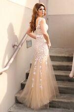 Champagne Elegant Mermaid  Lace  Long Prom / Wedding Dress
