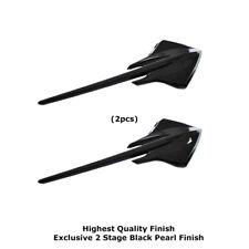 Fits 3pc C7 Corvette Stingray Mako Shark Fender Emblems Black Pearl Finish