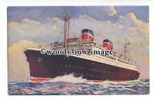 LS0792 - United States Lines Liner - Washington - artist Fred Hoertz postcard