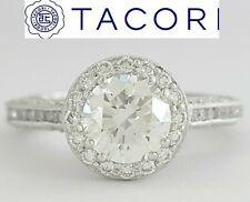 1.86 ct TACORI Classic Crescent HT2550RD65 18K Round Diamond Engagement Ring GIA