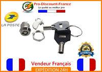 Mini Serrure 2 Clés Quart de Tour Tiroir Casier Clé Barilet Gadget Sécurité