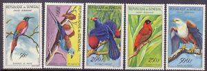 10/9.SENEGAL.1960-1963 BIRDS SC. C26-C30 MNH.VERY FINE