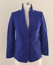 NEW JCrew Regent Blazer in Linen Jacket Suiting Size 00P BALTIC BLUE C0575 $178