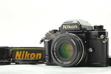 [N Mint Avec / Capuche] Nikon FA Reflex Noir Modèle + Nikkor Ai-S 50mm F/1.8 De