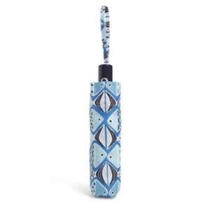 Vera Bradley Umbrella Go Fish Blue Pattern NWT