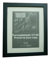 TERRORVISION+Formaldehyde+POSTER+AD+RARE ORIGINAL 1994+FRAMED+FAST+GLOBAL SHIP