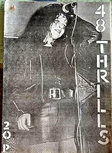 48 Thrills Issue 6. Punk Fanzine 1977 Ari Up, Sex Pistols, Boys, Rezillos RARE