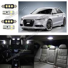 14x USA Error Free Canbus LED SMD Interior Light Kit White For Audi A6 C6 2005