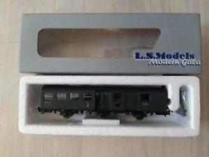 LS MODELS -SNCF ex PLM -VOITURE MIXTE 3eCL/FOURGON A 3 ESSIEUX-Ech HO -Ref:14041