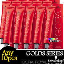Any 10pcs Schwarzkopf IGORA ROYAL Permanent Colour Hair Dye Golds Series 60ml