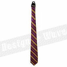 Potter Tie School Maroon/Yellow Purple Gryffindor Hogwarts House Book Week