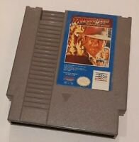 Nintendo NES Indiana Jones & the Temple of Doom cart, cleaned tested, authentic