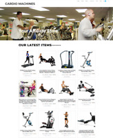 CARDIO MACHINES WEBSITE WITH NEW FREE DOMAIN - EASY TO RUN - FULLY STOCKED