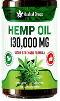 Hemp Oil Drops for Pain & Stress Relief - 100% Organic - 130,000 MG High Potency