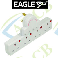 Eagle 13A 4 Way Surge Spike Protected Switched Multiple Plug-In Socket Extension