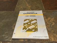 1991 Toyota Corolla Wiring Diagrams Electrical Service Manual