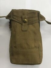 37 Pattern British Canvas Front Utility  Pouch Carrier Khaki - modified