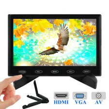 """7"""" TFT LCD Monitor HD Display Screen Touch Buttons AV/RCA VGA BNC HDMI Input"""