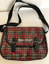 Little Marcel Satchel Bag Red Tartan Buckles Shoulder Strap Purse