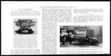 1905 Antique Print  MOTOR VAN Goods carrier Horace Marshall Presentation Bowl 84