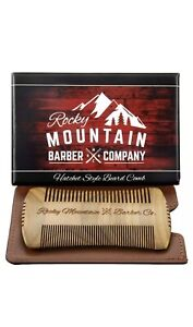 Beard Comb - Sandalwood Natural Hatchet Style for Hair - Anti-Static & No Sna...