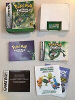 Pokemon: Emerald Version Nintendo Game Boy Advance GBA Authentic Saves COMPLETE!